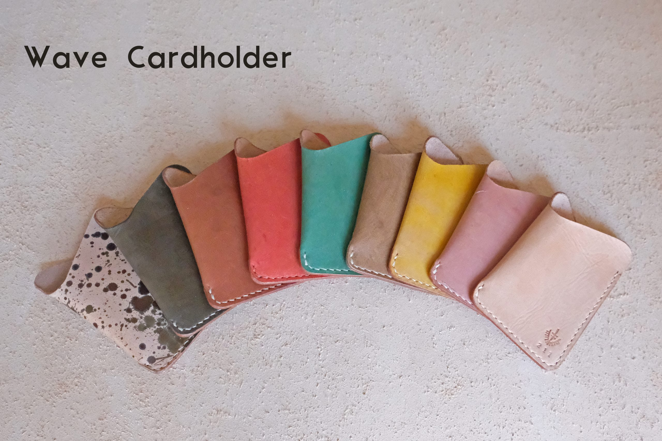 lerif designs wave cardholder assorted colors arranged in a rainbow